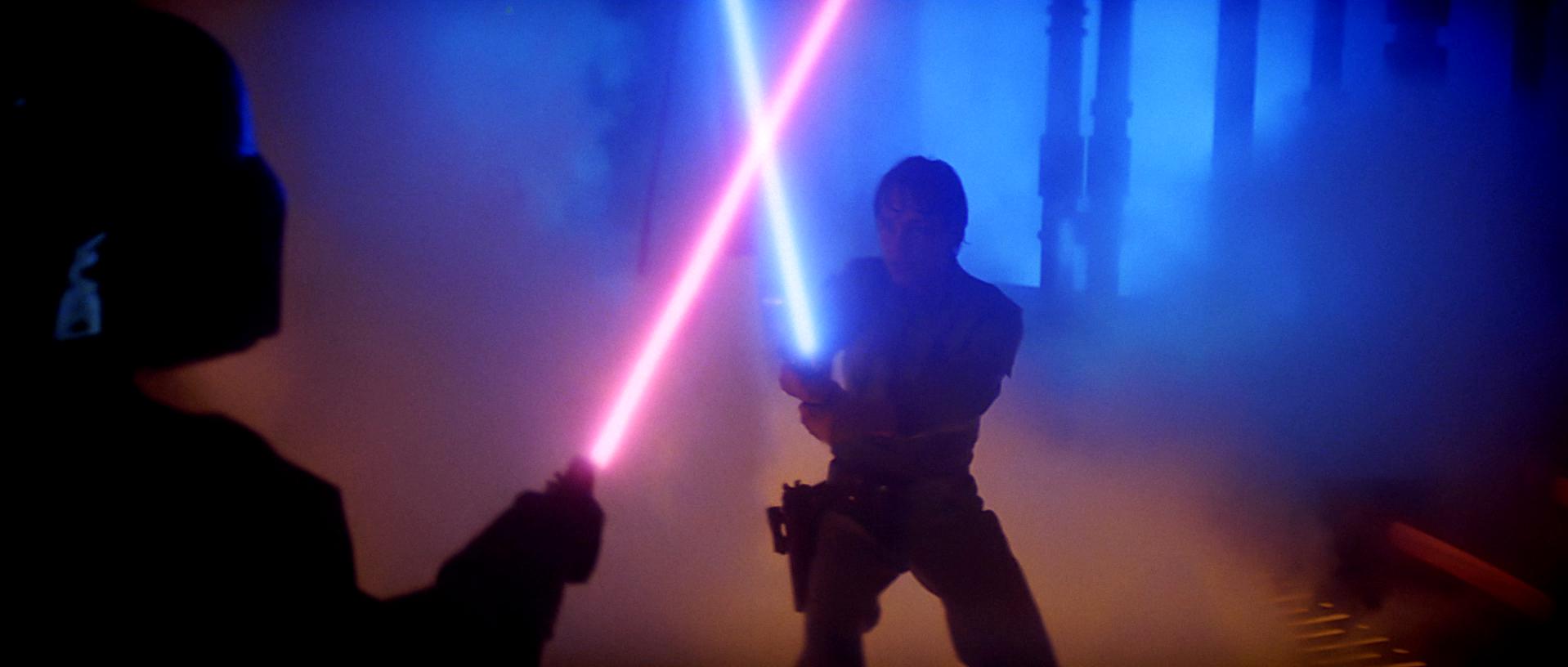 Luke vs Vader Lightsabers