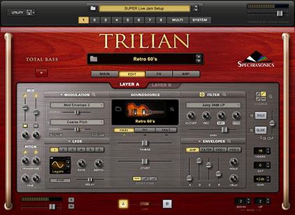 Spectrasonics Trilian instrument view
