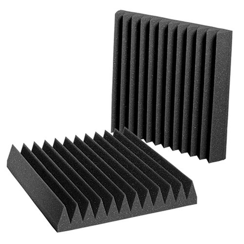 Auralex Studiofoam 2 Inches Thick, 1 foot by 1 Foot Wedgies, Charcoal, Box of 24