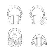 Audio-Technica ATH-M50x Professional Headphones