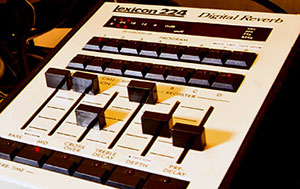Lexicon 224 Digital Reverb closeup