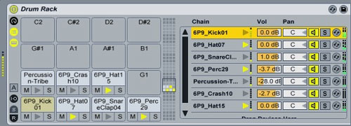 Ableton Live Drum Rack
