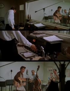 "Sam Phillips records Elvis at Sun Studio in ""Walk The Line"""