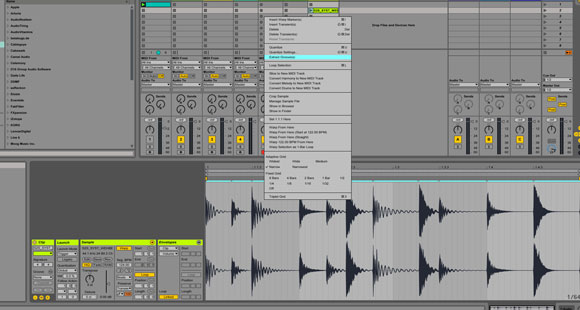 drum programming technique extract-groove-ableton-screenshot