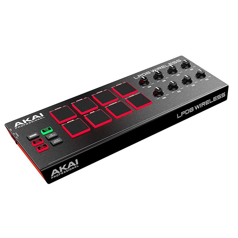 Akai Professional LPD8 Wireless | Bluetooth/USB Drum MIDI Controller f