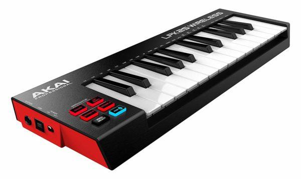 Akai Professional LPK25 Wireless   25 Mini-Key Bluetooth MIDI Keyboard for  iOS, PC, Mac with Sustain Pedal Input