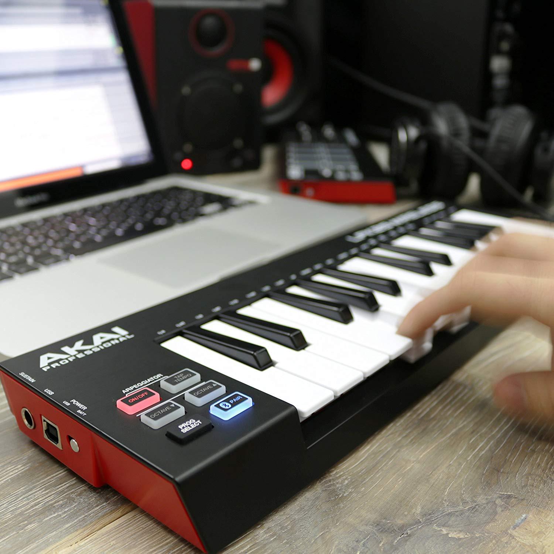 akai professional lpk25 wireless 25 mini key bluetooth midi keyboard. Black Bedroom Furniture Sets. Home Design Ideas