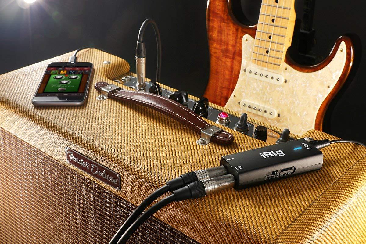 ik multimedia 1 irig hd 2 digital guitar interface for iphone ipad an. Black Bedroom Furniture Sets. Home Design Ideas